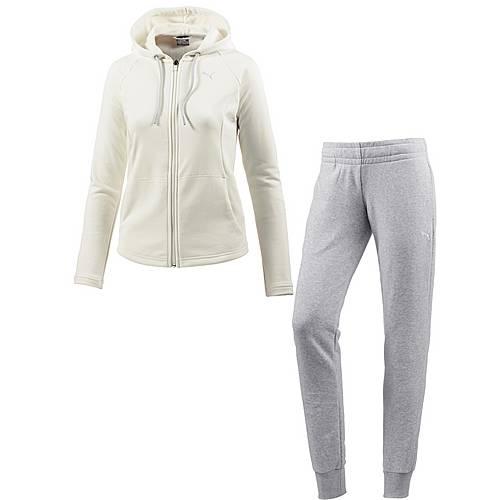PUMA Classic Trainingsanzug Damen Marshmallow/LGH