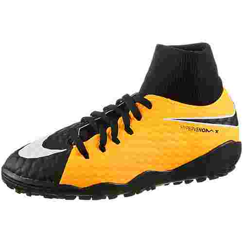 Nike JR HYPERVENOMX PHELON 3 DF TF Fußballschuhe Kinder LASER ORANGE/BLACK-WHITE-VOLT