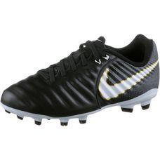 Nike JR TIEMPO LIGERA IV FG Fußballschuhe Kinder BLACK/WHITE-BLACK-MTLC VIVID GOLD