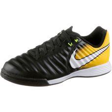 Nike JR TIEMPOX LIGERA IV IC Fußballschuhe Kinder BLACK/WHITE-LASER ORANGE-VOLT
