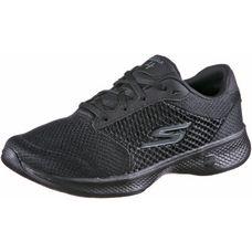 Skechers GO WALK 4 EXCEED Fitnessschuhe Damen Black Textile/ Black Trim