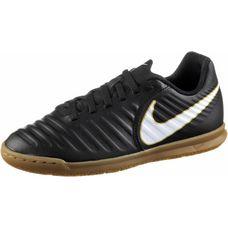 Nike JR TIEMPOX RIO IV IC Fußballschuhe Kinder BLACK/WHITE-BLACK-MTLC VIVID GOLD