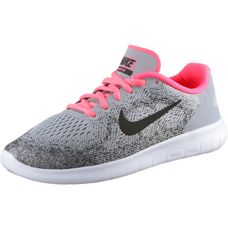 Nike Free Laufschuhe Kinder WOLF GREY/BLACK-RACER PINK-WHITE