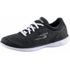 Skechers GO STEP LITE Fitnessschuhe Damen Black Textile/White Trim