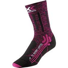X-SOCKS Trekking Merino Wandersocken Damen pink-black
