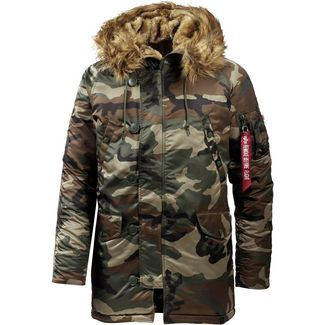 Alpha Industries N3B VF 59 Parka Herren woodland camo