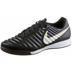 Nike TIEMPOX LIGERA IV IC Fußballschuhe BLACK/WHITE-BLACK-MTLC VIVID GOLD