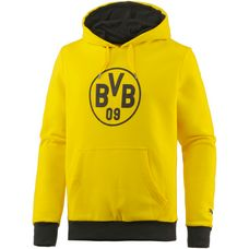 PUMA Borussia Dortmund Hoodie Herren Cyber Yellow-Puma Black