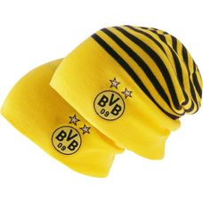 PUMA Borussia Dortmund Beanie Cyber Yellow-Puma Black