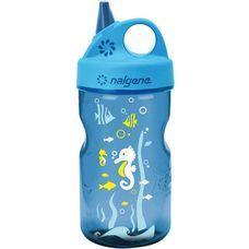 Nalgene Everyday Grip-n-Gulp Seepferdchen Trinkflasche Kinder blau