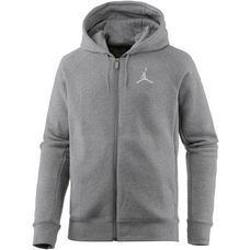 Nike FLIGHT FLEECE FZ Sweatjacke Herren CARBON HEATHER/WHITE