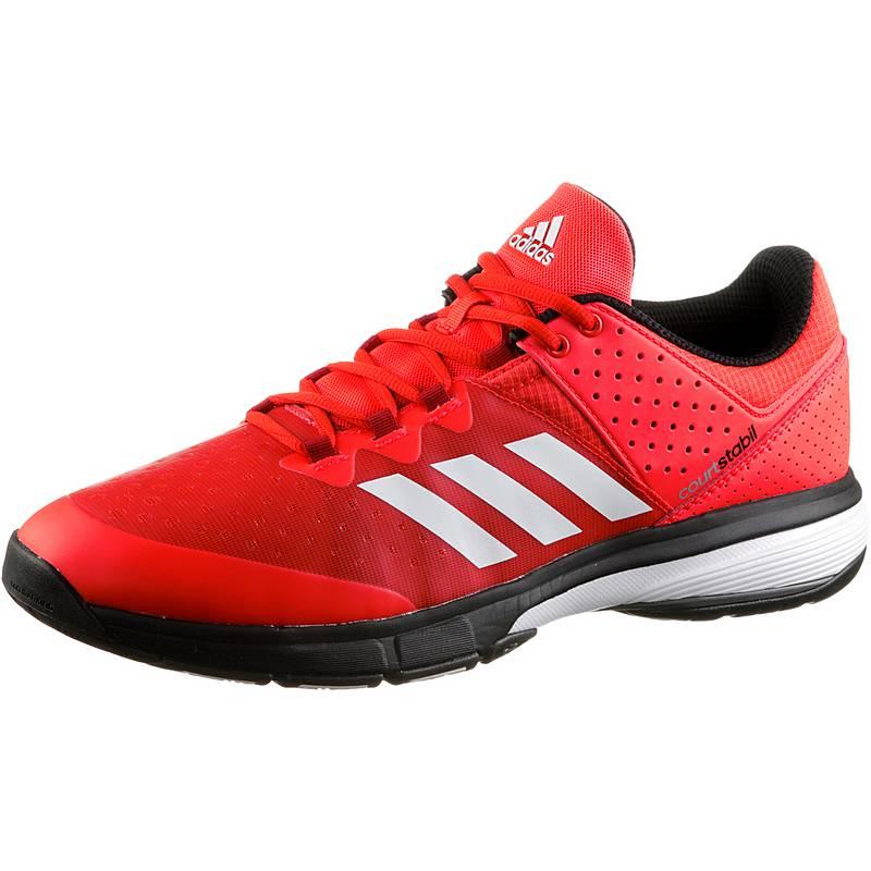 big sale 52cc2 26322 adidasCourt Stabil HandballschuheHerren solar red