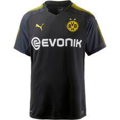 PUMA Borussia Dortmund 17/18 Auswärts Fußballtrikot Herren Puma Black-Cyber Yellow
