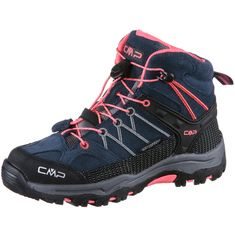 CMP Riegel Mid WP Wanderschuhe Kinder antracite-red fluo
