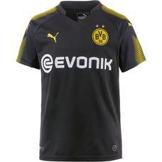 PUMA Borussia Dortmund 17/18 Auswärts Fußballtrikot Kinder Puma Black-Cyber Yellow