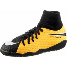 Nike JR HYPERVENOMX PHELON 3 DF IC Fußballschuhe Kinder LASER ORANGE/BLACK-WHITE-VOLT