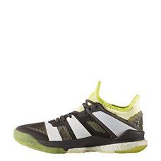 adidas Stabil X Handballschuhe Damen Utility Black -Footwear White-Ice Yellow