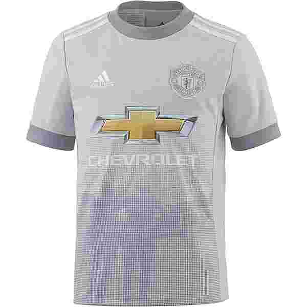 adidas Manchester United 17/18 CL Trikot Kinder lgh solid grey