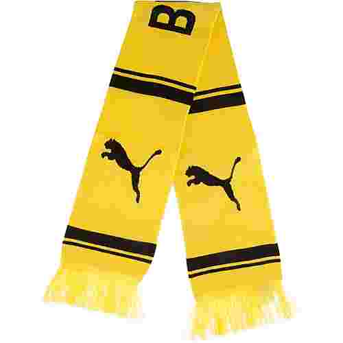 PUMA Borussia Dortmund Fanschal Cyber Yellow-Puma Black
