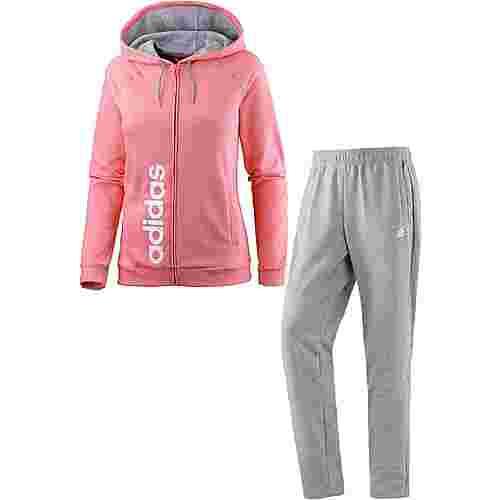 adidas Trainingsanzug Damen TACTILE ROSE/MEDIUM GREY HEATHER