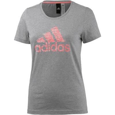 adidas T-Shirt Damen MEDIUM GREY HEATHER