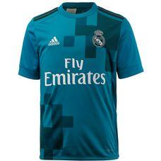 adidas Real Madrid 17/18 CL Fußballtrikot Kinder vivid teal