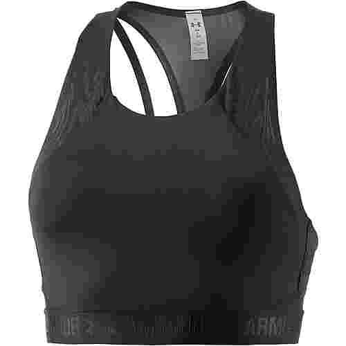 Under Armour Fashion Mid Sport-BH Damen BLACK/BLACK/BLACK
