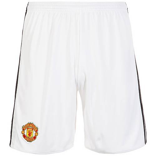 adidas Manchester United 17/18 Heim Fußballshorts Herren weiß / schwarz