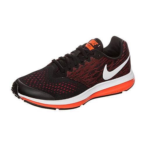 Nike Winflo 4 Laufschuhe Kinder schwarz / weiß