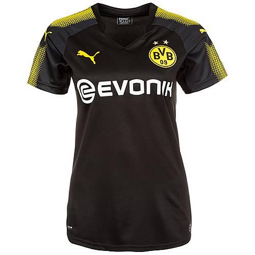 PUMA Borussia Dortmund 17/18 Auswärts Fußballtrikot Damen gelb / schwarz