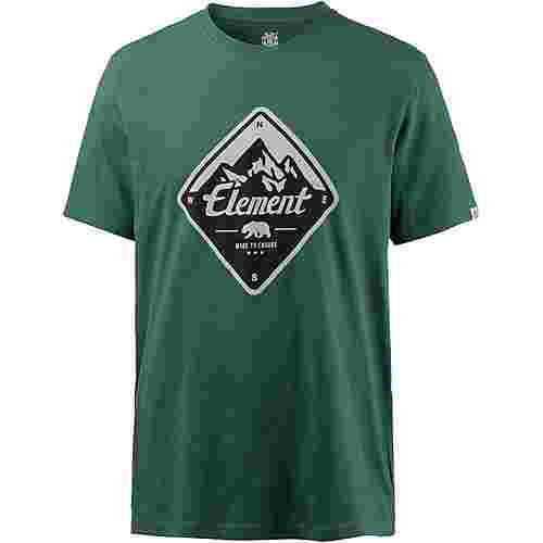 Element ROUTE Printshirt Herren HUNTER GREEN