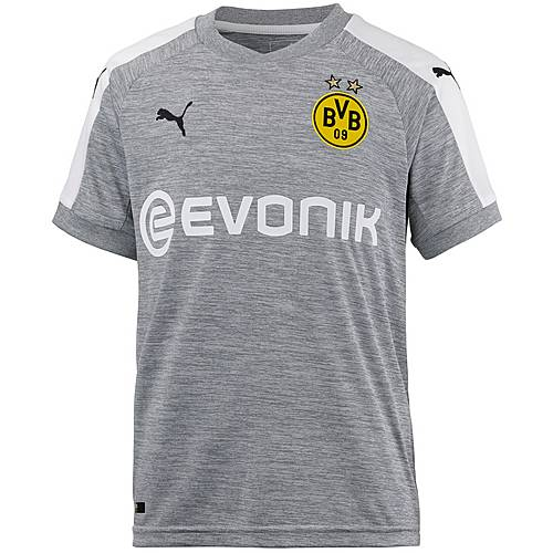 PUMA Borussia Dortmund 17/18 Ausweich Fußballtrikot Kinder Light Gray Heather-White