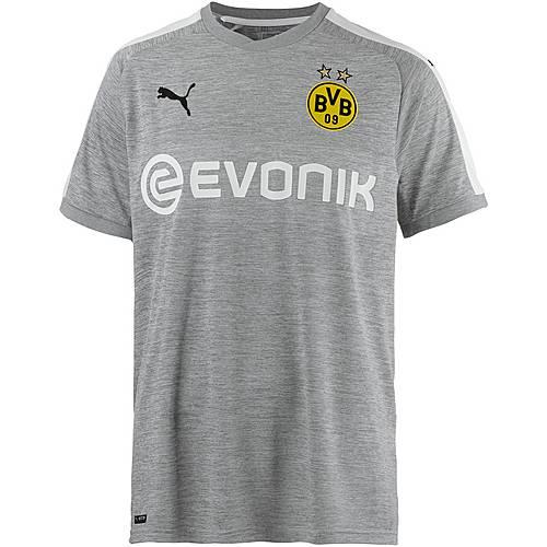 PUMA Borussia Dortmund 17/18 Ausweich Fußballtrikot Herren Light Gray Heather-White