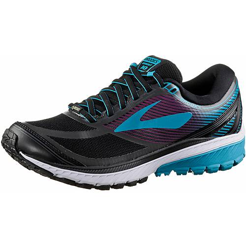 Brooks Ghost 10 GTX Laufschuhe Damen Black/Peacock Blue/Hollyhock