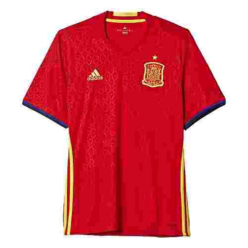 adidas UEFA EURO 2016 Spain Rep. Fußballtrikot Herren Scarlet-Bright Yellow