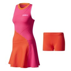 adidas Barricade Tenniskleid Damen Core Red