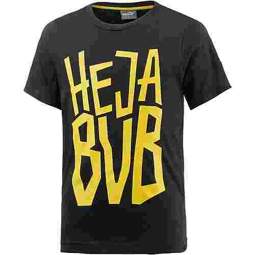 PUMA Borussia Dortmund T-Shirt Kinder Puma Black