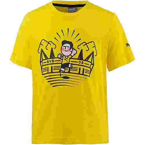 PUMA Borussia Dortmund T-Shirt Kinder Cyber Yellow