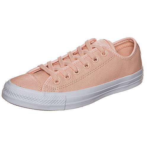 CONVERSE Chuck Taylor All Star Pebbled Leather Sneaker Damen rosa / weiß