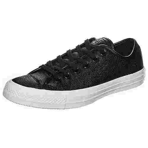 CONVERSE Chuck Taylor All Star Pebbled Leather Sneaker Damen schwarz / weiß