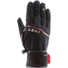 LEKI Tour Precision Plus V Fingerhandschuhe schwarz-chrom-rot