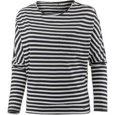 O'NEILL ESSENTIALS STRIPED Langarmshirt Damen BLACK AOP W/ WHITE