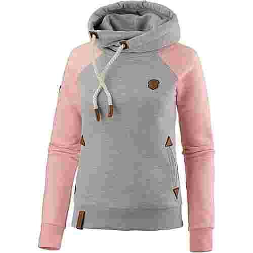 Naketano So Ein Otto II Grey & Pink Melange Hoodie