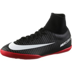 Nike JR MERCURIALX VICTORY 6 DF IC Fußballschuhe Kinder BLACK/WHITE-DK GREY-UNIV RED