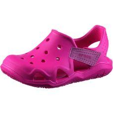 Crocs Pantoletten Kinder neon magenta