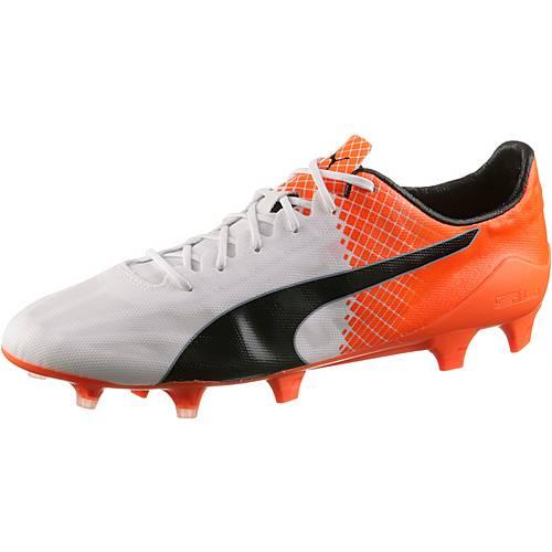 PUMA evoSPEED SL II FG Fußballschuhe Herren weiß/orange