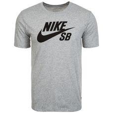Nike Logo Printshirt Herren hellgrau / schwarz