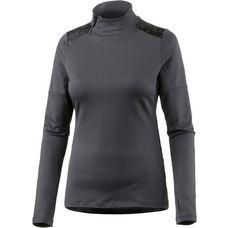ASICS LITE-SHOW WINTER Laufshirt Damen dark grey/lite stripe performa