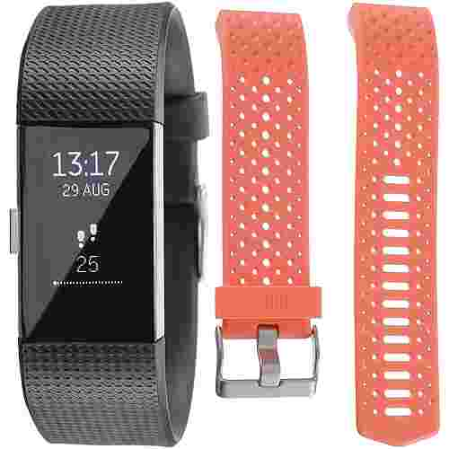 FitBit Charge 2 Bundle Fitness Tracker black-coral