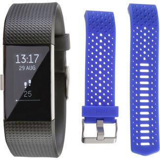 FitBit Charge 2 Bundle Fitness Tracker black-cobalt